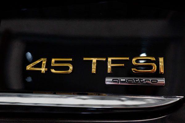 奥迪a8车标电镀金